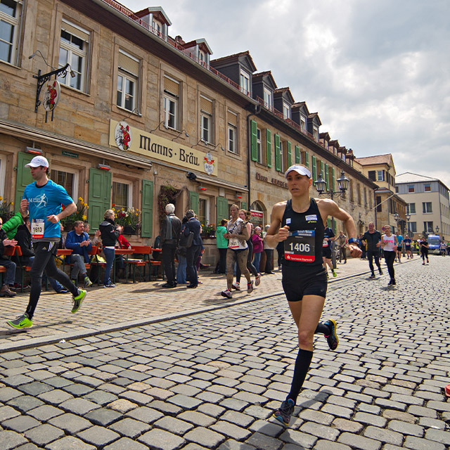 Läuferin und Siegerin beim Halbmarathon 2016