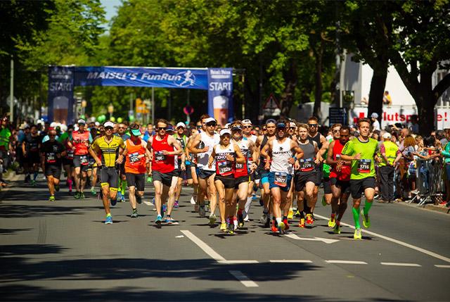 Viele Läufer beim Maisels FunRun 2018