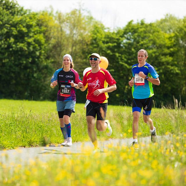 Eine Gruppe von Läufern